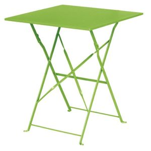 MANGE-DEBOUT Boléro Lime Vert Square Pavement style Table acier