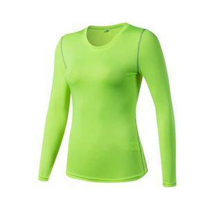 T-SHIRT DE COMPRESSION T-shirt de Compression Manches Longues Élastique p