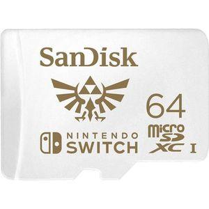 CARTE MÉMOIRE SanDisk Nintendo Switch Carte mémoire flash 64 Go