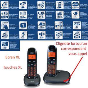 Téléphone fixe Téléphone sans fil SWITEL Duo - Touches rétro écla