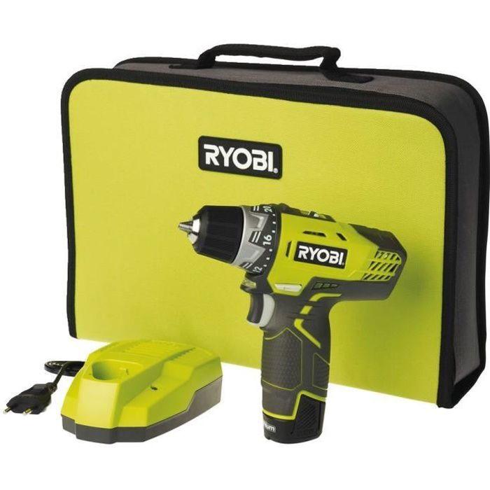 RYOBI Perceuse 12V avec 1 batterie lithium 1,3 Ah