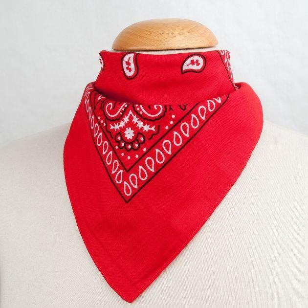 Foulard bandana rouge c6f3314af90