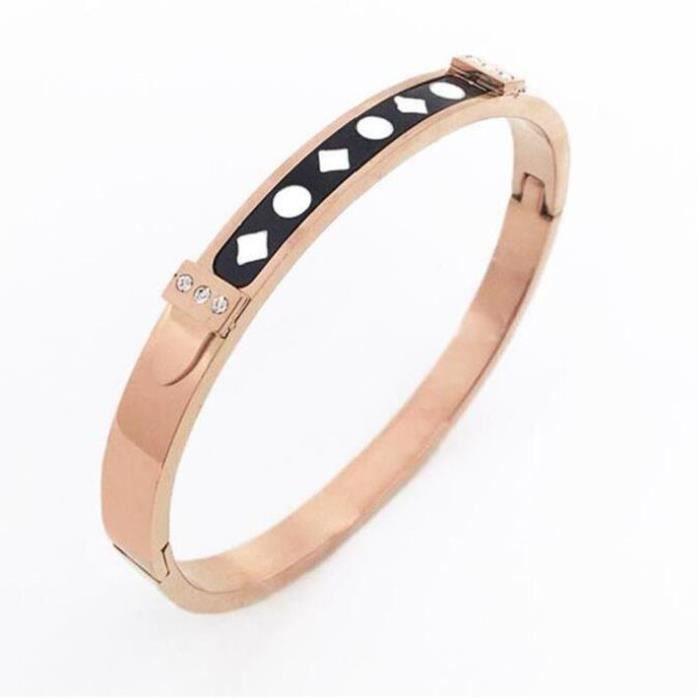 2017 nouveau bracelet femme en acier titane boucle ouverture bracelet imprimé bracelet sauvage femelle