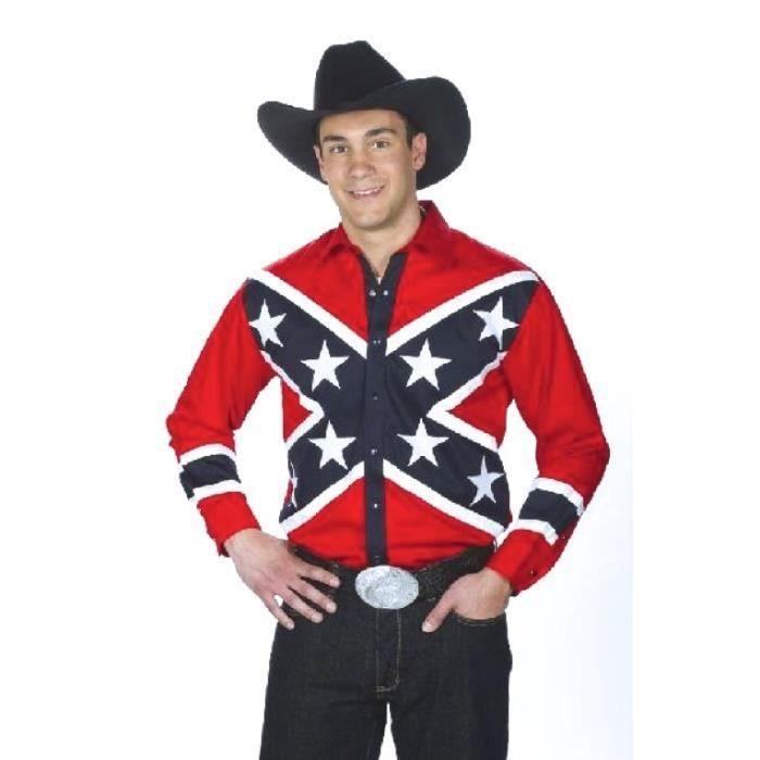 en ligne à la vente en présentant nuances de Chemise américaine cowboy country Southern Rebel USA - 100 ...