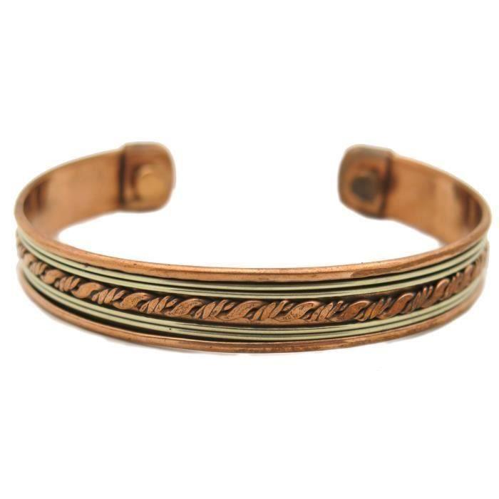 Bracelet cuivre 2 aimants