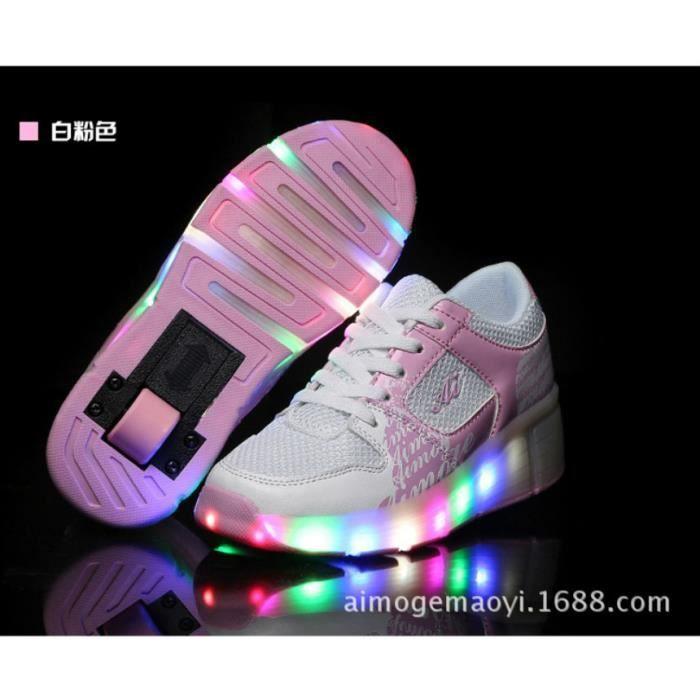 Unisexe 2016 nouvelle lampe LED lacets lumi re les gar ons et les filles en fuite chaussures simples adultes ronde mod les automatiq