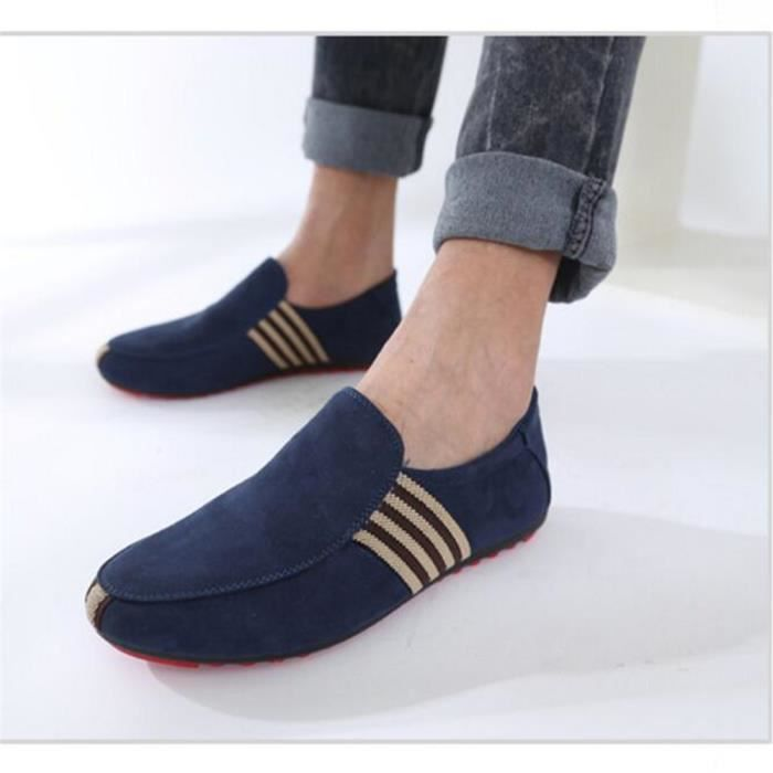 Moccasins homme Nouvelle Mode Chaussures Marque De Luxe Respirant Mocassin hommes Confortable Chaussure Grande Taille bleu 39-44 NMAXzx11Al