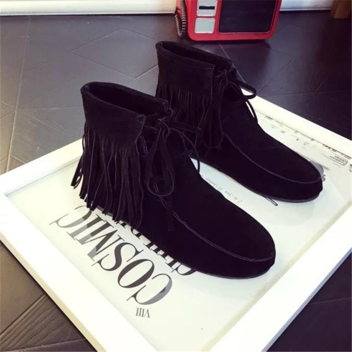 dfe562895dae6f Femme Bottine Gland Nouvelle Botte Chaussure Sneaker Confortable Couleur De  Rétro Qualité Mode Beau Haut Classique ...