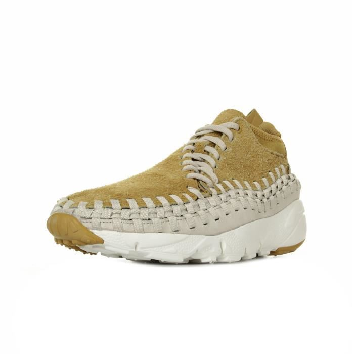 buy popular 4117f 7798f Baskets Nike Air Footscape Woven Chukka QS Beige Beige, gris - Achat ...