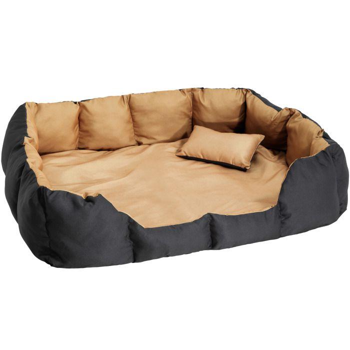 coussin pour chien lit pour chien panier pour chien douillet marron noir avec motifs taille. Black Bedroom Furniture Sets. Home Design Ideas