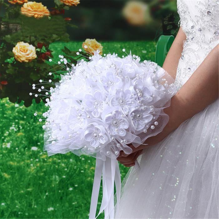 Bouquet Fleur Artificielle Decoration Mariee Mariage Fete Ruban