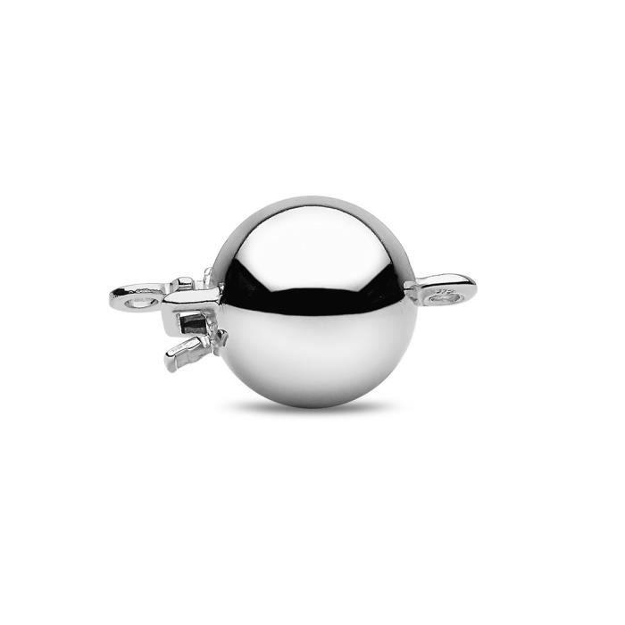18 carats en or blanc semi ronde Bracelet de perles deau douce Cultured S2GMU