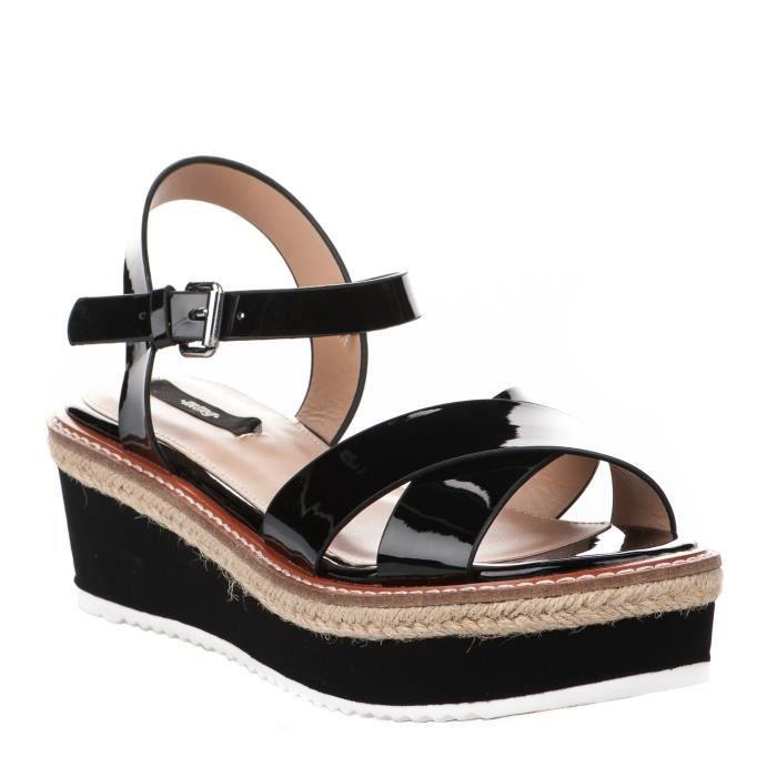 Nu pieds femme - MTNG - Noir - ALEXANDR 55409 - Millim