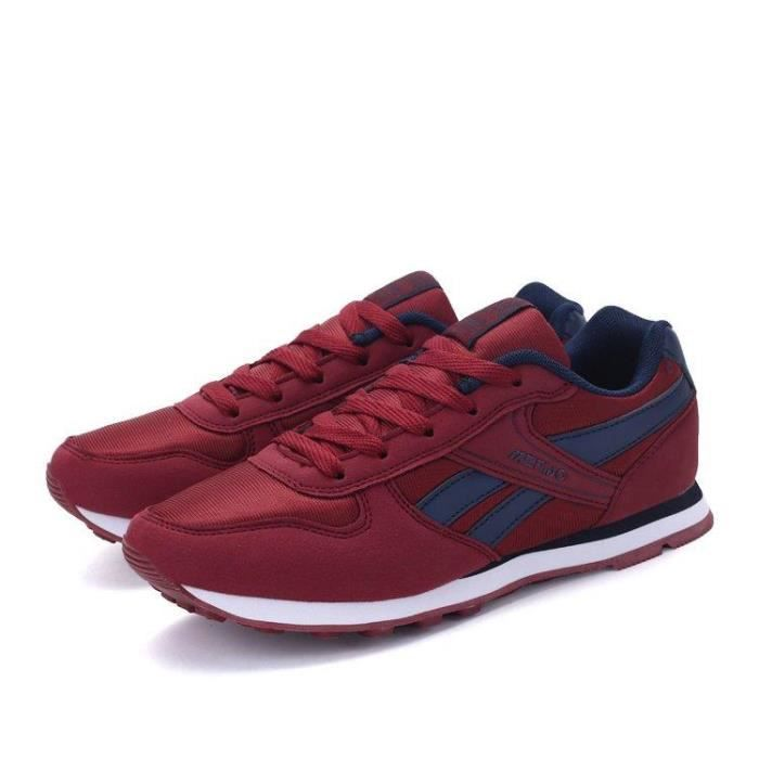 Basket Running Chic Plus Taille Gym Mode Pour Homme rouge 44 R81456325_8217