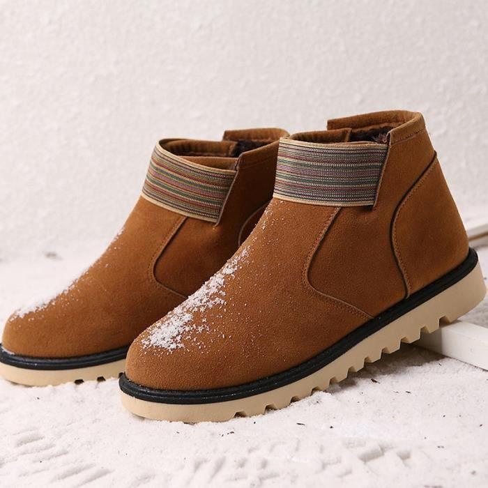 Suede Laine en cuir Mode Hommes chaud Bottes de neige antidérapants 3YajdUnO