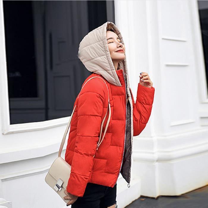Chaud Épais D'hiver Outcoat Manteau À Fausse Capuchon Femmes Slim Noir En Veste Les Fourrure Pardessus FEB58pqwn