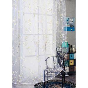 RIDEAU mosakog® Plum Blossom fenêtre Rideaux couleur de l