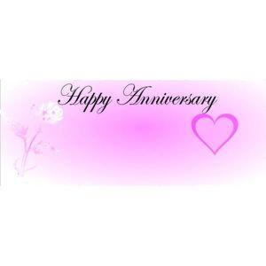 Joyeux Anniversaire De Mariage Coeur Et Fleurs Banderole Personnalisée 300 X 120 Cmpartyrama