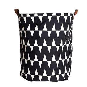 BOITE DE RANGEMENT Impression en toile de coton de lavage sac de rang