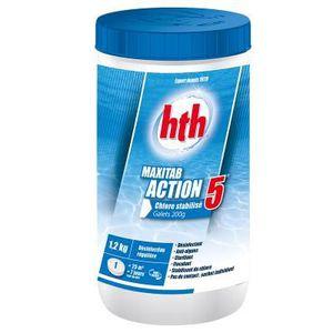 TRAITEMENT DE L'EAU  HTH Maxitab Action 5 - Chlore stabilisé multifonct
