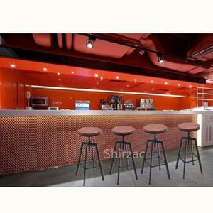 TABOURET DE BAR YXN ❤Lot de 4 Chaises de Bar Style Industriel Vint