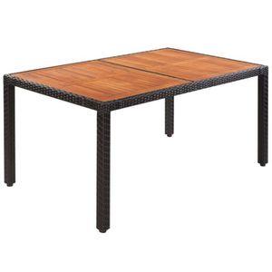 Table de jardin en bois acajou 220 x 100 cm Grosseto - Achat ...