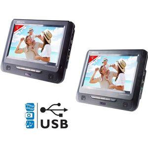 LECTEUR DVD PORTABLE TAKARA VRT179 Lecteur DVD portable 2 écrans 9