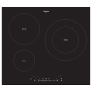 Table de cuisson induction 3 foyers anti debordement achat vente pas cher - Table induction whirlpool ...