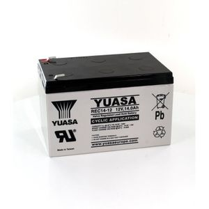 BATTERIE DOMOTIQUE Batterie plomb Yuasa 12V 14Ah REC14-12 Cyclique