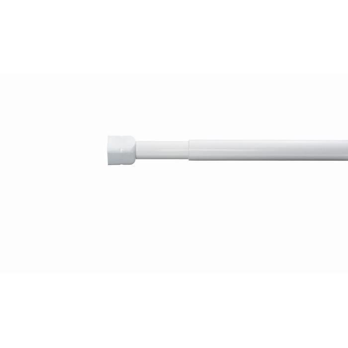 RIDDER Barre de douche télescopique - 110-185 cm Ø 19 mm - Blanc