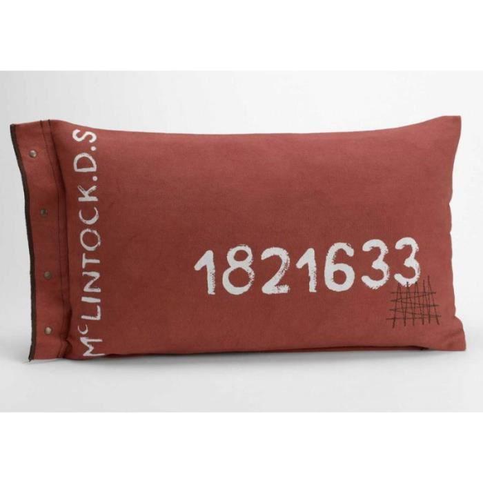 coussin industriel vintage en toile brique 30x50 cm achat vente coussin soldes d s le 10. Black Bedroom Furniture Sets. Home Design Ideas
