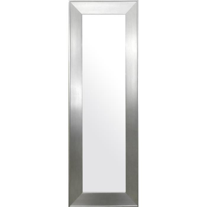 Natura miroir psych 49x139 cm argent achat vente for Miroir rectangulaire argent