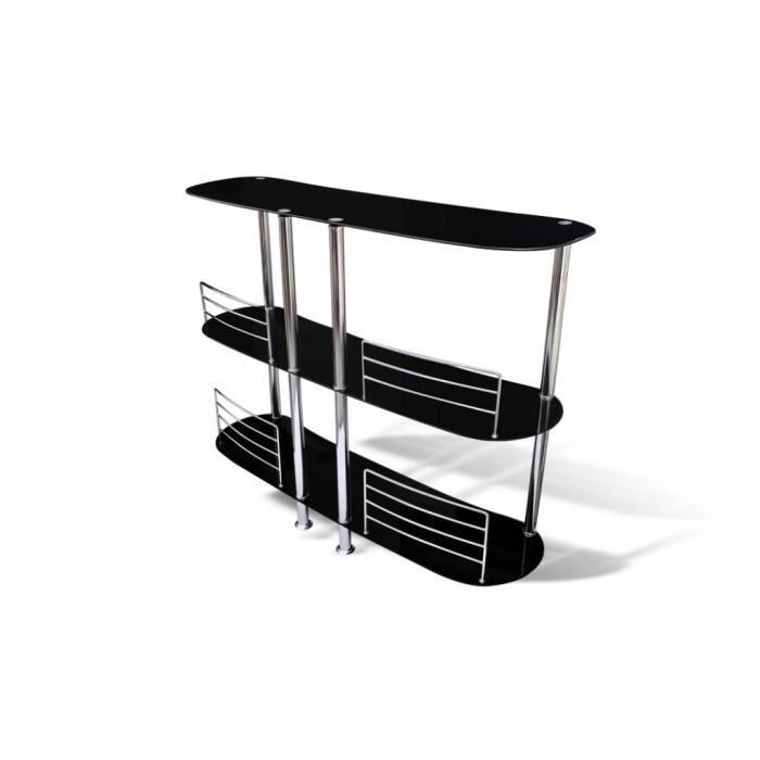 Table haute meuble de bar verre - Achat / Vente Table haute meuble ...