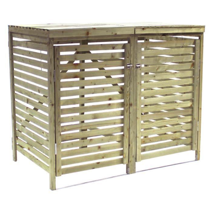 charmant cache poubelle pas cher 4 cache poubelle bois cp15090 abri p. Black Bedroom Furniture Sets. Home Design Ideas