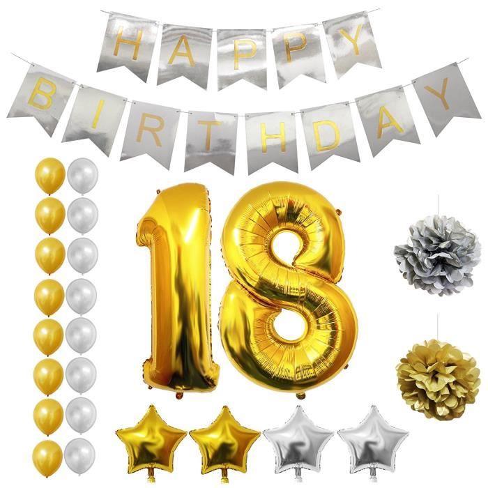 ballon anniversaire 18 ans achat vente ballon anniversaire 18 ans pas cher black friday le. Black Bedroom Furniture Sets. Home Design Ideas