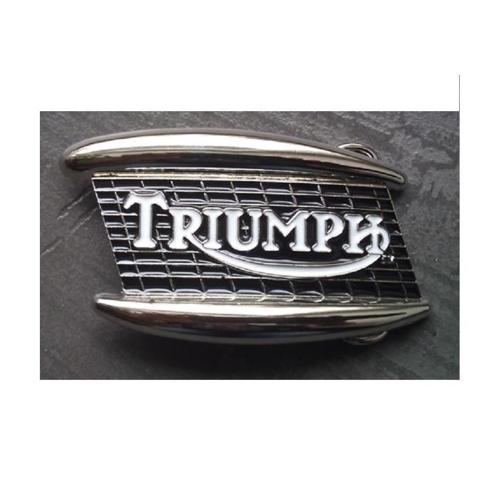 Boucle de ceinture triumph radiateur noir chrome biker moto - Achat ... 1479a40ac1a
