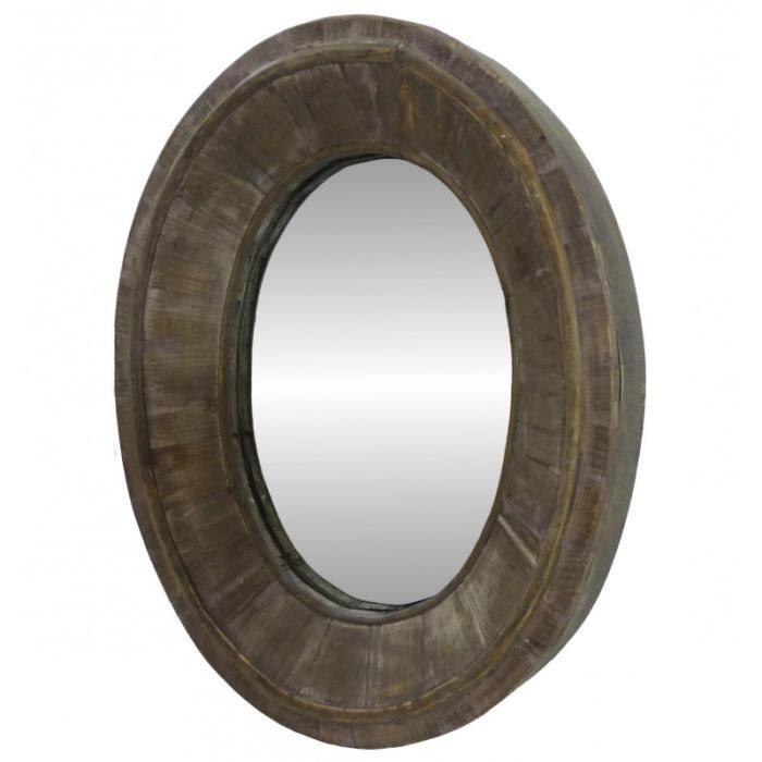 Miroir ovale bois achat vente miroir ovale bois pas for Miroir en bois pas cher