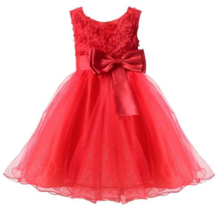 Robe rouge 3 ans