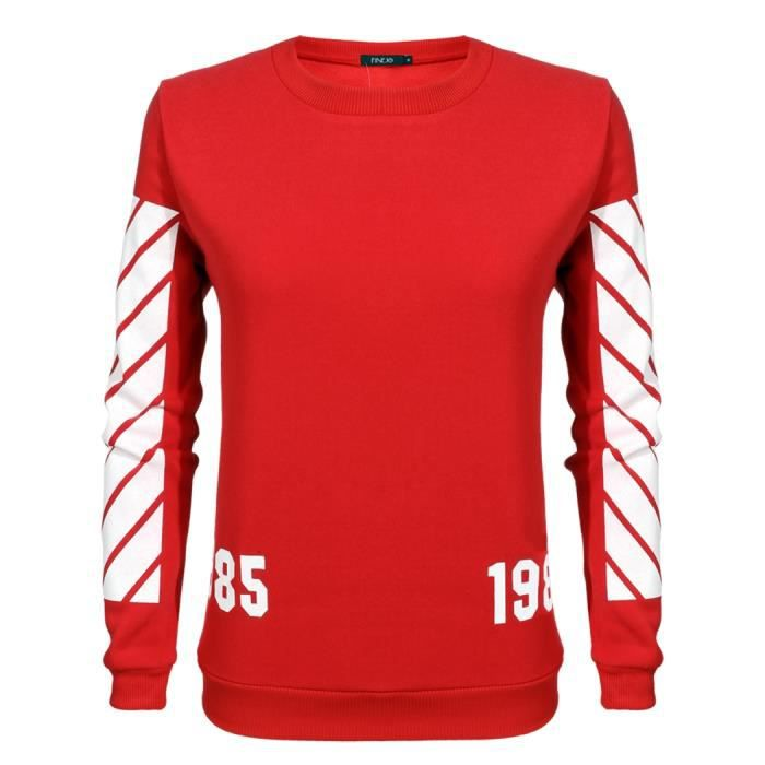 Pull femme sport O-cou Rouge Rouge - Achat   Vente pull - Soldes ... 1ff16b9314e9