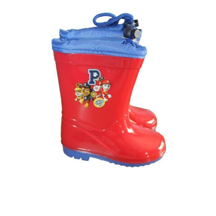 nouvelle collection acheter bien sélectionner pour dernier bottes de pluie pat patrouille rouge