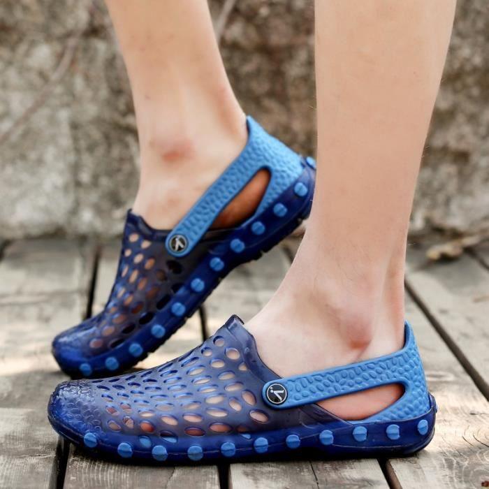 Bout rond Hommes Skid résistance Chaussures Sandales