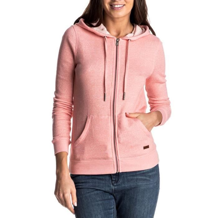 Sweat Rose Roxy Xs Femme Signature Achat Zip Taille B5Sqp5P
