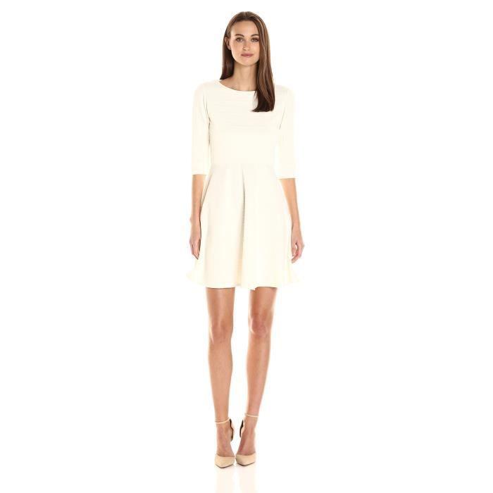 6493c594a3 Donna Morgan Manteau manches 3-4 pour femme et robe flambée G99ZS ...