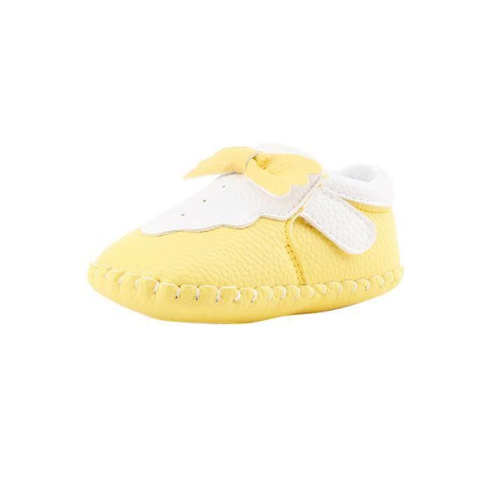 BOTTE Toddler Girl Cute Crib Chaussures Nouveau-Né Semelle Souple Anti-slip Bébé Sneakers@JauneHM Mrpe0qGLa