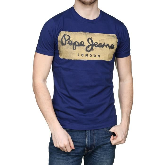 T-SHIRT Tee Shirt Pepe Jeans Charing Pm503215 563 Steel...