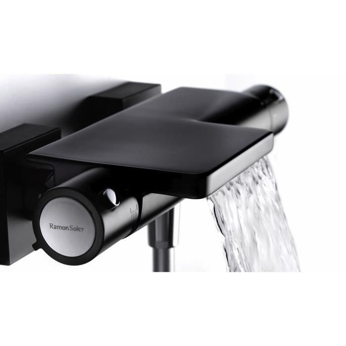 Mitigeur thermostatique bain/douche noir \