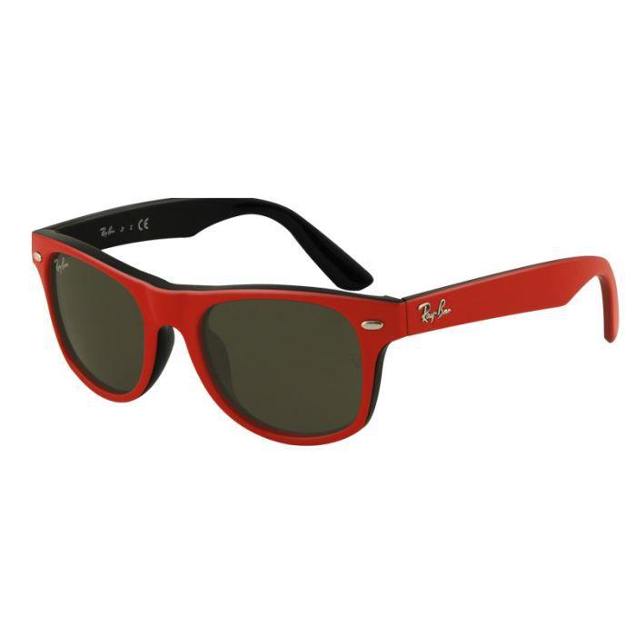 f97941d079b03 Lunettes de soleil ENFANT Ray-Ban Junior Modèle… Rouge - Achat ...