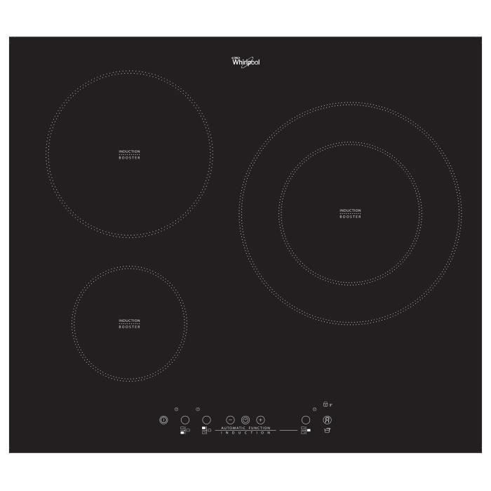 whirlpool acm881ne table de cuisson induction 3 foyers electrom nager. Black Bedroom Furniture Sets. Home Design Ideas