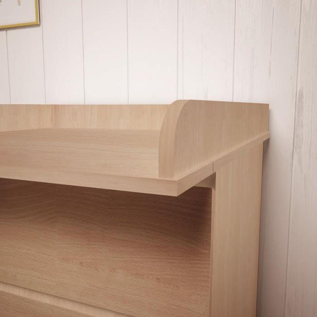 Plan A Langer Polini Kids Pour Commode Ikea Malm Bois Couleur Hetre