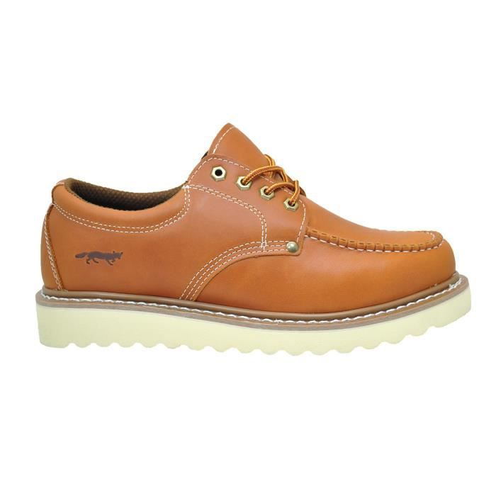 """Chaussure de travail 4"""" Moc Toe cuir Oxford Construction & Casual RS94O Taille-40 1-2"""